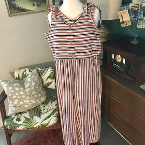 Stripped rewind jumpsuit